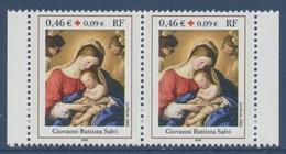 N° 3531a  Croix-rouge, Faciale 0,46 €+0,09€ Paire - Neufs