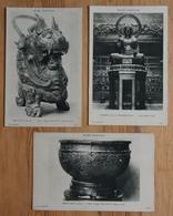Paris - Musée Cernuschi - 3 CPA - Bouddha De Megourd - Vase Rituel Et Grtande Cuve époque Tchou - Arts Asie - (n°15087b) - Museen