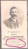 CEREXHE HEUSEUX  JUSTIN LEMPEREUR 1947  Président Du Conseil De Fabrique - Obituary Notices