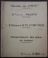En1.m- FAUSTA CAN Cie Auxiliaire Navigation France Chantier Chantier France Dunkerque Moteur Diesel BW Cargo Paquebot - Nautico & Marittimo