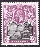 ST HELENA 1912KGV 8d Black & Dull PurpleSG78FU - Saint Helena Island