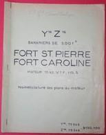 En1.g- Cargo FORT St PIERRE CAROLINE CGT Transatlantique Loire Normandie Provence Port Bouc Moteur B&W Burmeister Wain - Non Classés