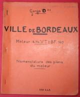 En1.c- Cargo VILLE De BORDEAUX NOCHAP NCHP Havre France 1964 ACSM Le Trait Moteur B&W Burmeister Wain Havraise - Náutico & Marítimo
