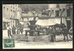 CPA Le Vigan, Une Fontaine Dite Lou Grifou - Le Vigan