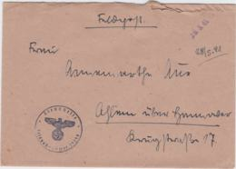 German Feldpost WW2: From A Horse Hospital - Pferde-Lazarett 688  FP 29294 P/m 26.5.1941 - Letter Inside (G79-76) - Militaria