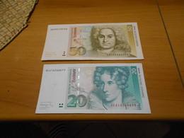 GERMANY    1991     50  MARKS   AND   20   MARKS     BILLETS - 50 Deutsche Mark