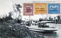"""RARE NICARAGUA WAWASHAN RIVER """" PUERTO PERLAS""""  STAMPS 1920 - Nicaragua"""