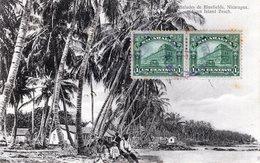 NICARAGUA BLUEFIELDS CORN ISLAND BEACH , STAMPS 1920 (4) - Nicaragua