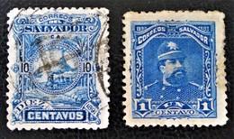 EMISSIONS 1891/93 - OBLITERES - YT 40 + 63 - Salvador