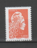 FRANCE / 2018 / Y&T N° 5254 ** : Marianne D'YZ (de Feuille Gommée) 1.00 € Orange X 1 - Gomme D'origine Intacte - Frankrijk