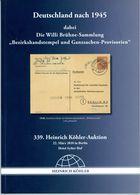 Bezirkshandstempel + Ganzsachen Provisorien - 339. Köhler 2010 Deutschlanf  Nach 1945 - Sowjetische Zone (SBZ)
