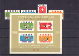 Equateur 1964 Yvert 722 + PA 433/35 + BF 11  Neufs** MNH (59) - Ecuador