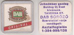 Dortmunder Actien Brauerei DAB Original , German Beer , DAB Sörözö - Bierdeckel