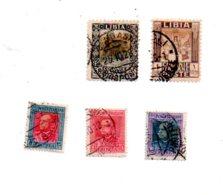 Poste Italiane -Libia - Eritrea- 5 Timbres-voir état - Timbres
