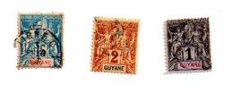 République Française - Guyane - 3 Timbres-voir état - Timbres