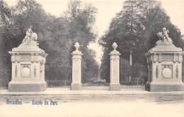 BRUXELLES - Entrée Du Parc - Parks, Gärten