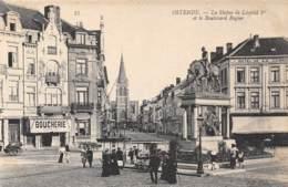 OSTENDE - La Statue De Léopold Ier Et Le Boulevard Rogier - Oostende