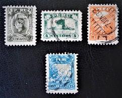 SERIE COURANTE 1931/32 - OBLITERES - YT 259/61 - MI 260/63 - Peru