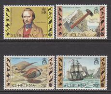1982 St Helena Darwin Ships Birds  Complete Set Of 4 MNH - Saint Helena Island