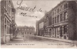 ENGHIEN RUE DE LA STATION ET GARE 1906 - Enghien - Edingen