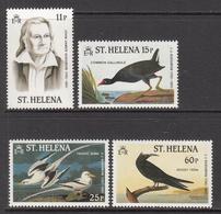 1982 St Helena Audobon  Birds Art Painting Complete Set Of 4 MNH - Saint Helena Island