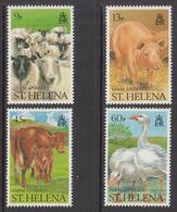 1990 St Helena Farm Animals Cattle Sheep  Complete Set Of  4 MNH - Saint Helena Island