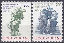 Vatikan Vatican 1986 Religion Christentum Persönlichkeiten Camillo De Lellis Johannes Schutzpatrone Kranke, Mi. 894-5 ** - Vatikan