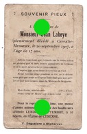 CEREXHE HEUSEUX  Mr Jean LABEYE 1907  / RARE - Obituary Notices