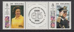 1991 St Helena QEII Birthdays  Complete Set Of  2 MNH - Saint Helena Island