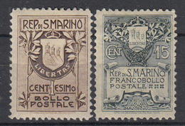 SAN MARINO - Michel - 1907 - Nr 47I/48I (MOOI) - MH* - Neufs