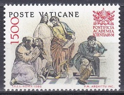Vatikan Vatican 1986 Wissenschaften Science Bildung Education Akademie Academy Athen Fresco Raffael, Mi. 897 ** - Vatikan