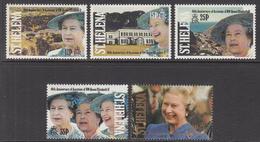 1992 St Helena QEII Accession   Complete Set Of  5 MNH - Saint Helena Island