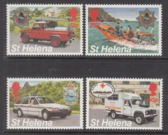 1994 St Helena Emergency Services Ambulance Health Fire Police  Complete Set Of  4 MNH - Saint Helena Island