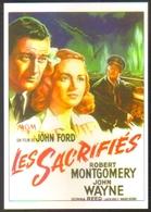 Carte Postale Illustration : Roger Soubie (cinéma Affiche Film) Les Sacrifiés (John Wayne - John Ford) - Affiches Sur Carte