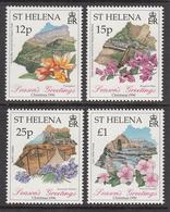 1996 St Helena Christmas Flowers Fleurs Complete Set Of  4 MNH - Saint Helena Island