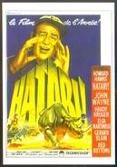 Carte Postale Illustration : Roger Soubie (cinéma Affiche Film) Hatari ! (John Wayne - Rhinocéros) - Affiches Sur Carte
