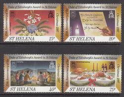 1997 St Helena Christmas Noel Flowers  Complete Set Of  4 MNH - Saint Helena Island