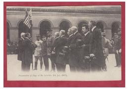 FRANCE --GUERRE 14/18-- INVALIDES -- PRESENTATION DU DRAPEAU AMERICAIN LE 4 JUILLET 1917 -- AMERICAN RED CROSS CP-- - Guerre 1914-18