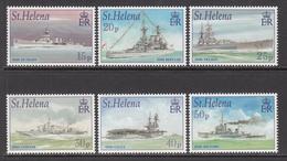 2001 St Helena WWII Royal Navy Ships Military Complete Set Of  6 MNH - Saint Helena Island