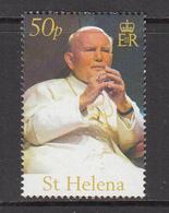 2005 St Helena Pope John Paul II Complete Set Of  1 MNH - Saint Helena Island