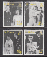 2007 St Helena QEII Wedding Anniversary Complete Set Of  4 MNH - Saint Helena Island