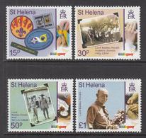 2007 St Helena Scouting Complete Set Of  4 MNH - Saint Helena Island
