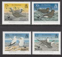 2007 St Helena Birdlife International Birds Oiseaux  Complete Set Of  4 MNH - Sint-Helena