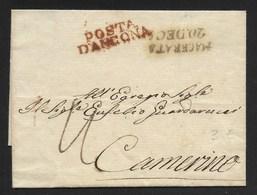 PERIODO NAPOLEONICO - DA ANCONA A CAMERINO. - ...-1850 Préphilatélie