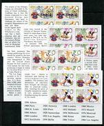 Belize 1984 Olympic Games, Los Angeles Booklet Pane Set MNH (SG 789a-792a) - Belize (1973-...)