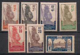 Gabon - 1910 - Complet Du N°Yv. 33 Au 39 - 7 Valeurs - Neuf Luxe ** / MNH / Postfrisch - Gabon (1886-1936)