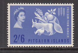1963 Pitcairn Freedom From Hunger   Complete Set Of  1 Lightly Hinged - Pitcairn Islands