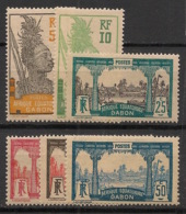 Gabon - 1922 - N°Yv. 82 à 87 - Série Complète - Neuf GC ** / MNH / Postfrisch - Gabon (1886-1936)