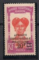 Gabon - 1926-27 - N°Yv. 115a - 20f Sur 5f - VARIETE Sans Point Après Le F - Neuf Luxe ** / MNH / Postfrisch - Neufs