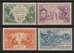 Gabon - 1931 - N°Yv. 121 à 124 - Série Complète - Exposition Coloniale - Neuf * / MH VF - Unused Stamps
